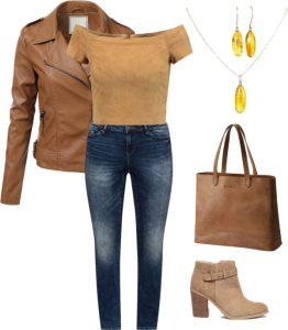Suede in spring with ankle boots