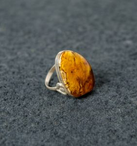 3-dimensional landscape in amber ring
