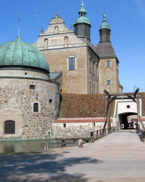 Renaissance royal sweden castle in Vadstena